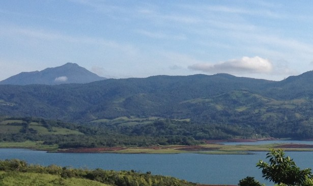 Lake Arenal view (shot from Volcano Brewing Company)