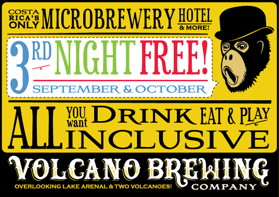 Volcano Brewing Company - Hotel and Brewpub - Lake Arenal, Costa Rica