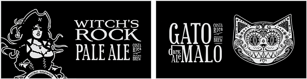 Witchs Rock Pale Ale and Gato Malo Brown Ale